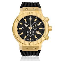 Relógio Constantim Pointers Precision Gold Black ZW30189U Borracha