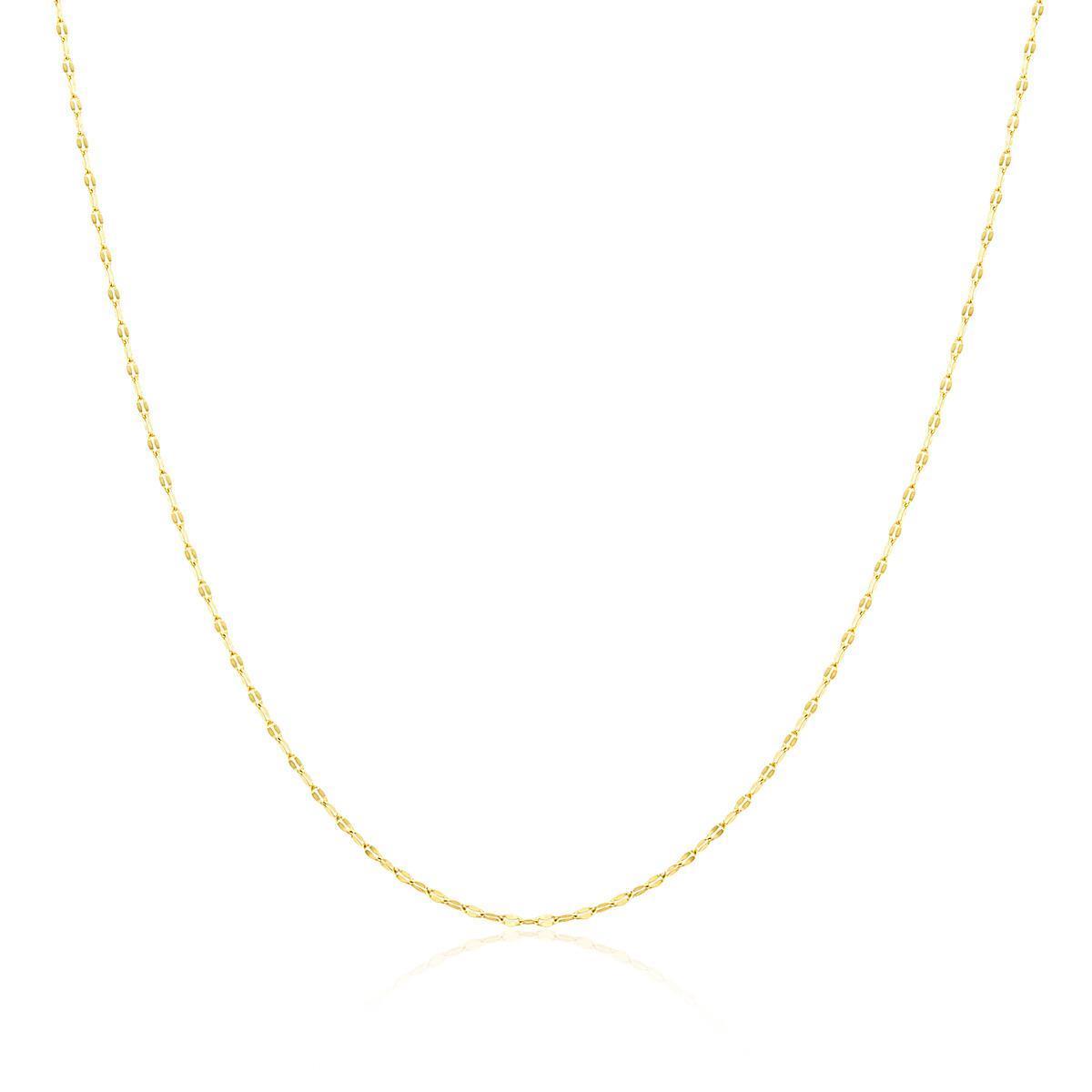 e3f1aceaa59c2 Corrente de ouro Malha Café com 45 cm e 1