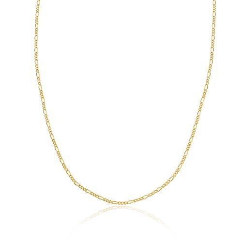 Corrente Feminina Elos Figaro 45 cm, em Ouro Amarelo