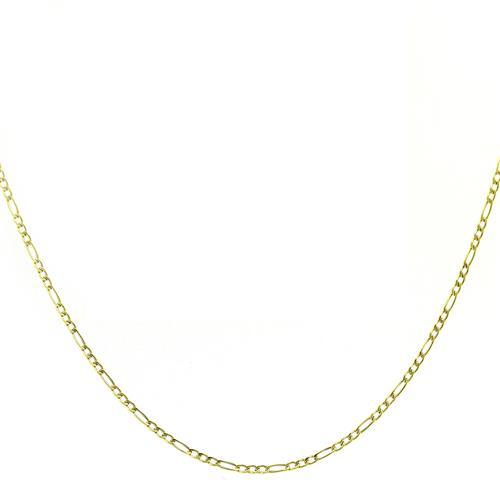 Corrente Elos Ovais com 60 cm, em Ouro Amarelo