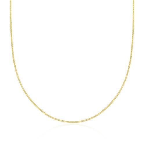 Corrente Masculina Elos Grumet 60 cm, 1,2 grama em Ouro Amarelo