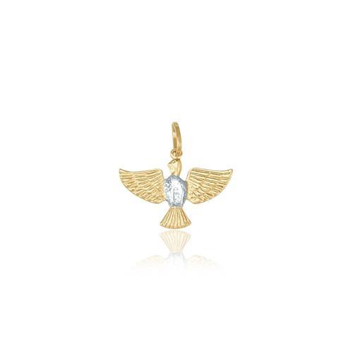 dd4d60c1dc6e0 Pingente Espírito Santo em Ouro Amarelo com detalhe em Ródio