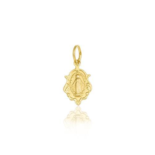 Pingente Religioso Nossa Senhora das Graças em ouro amarelo 26251caa71