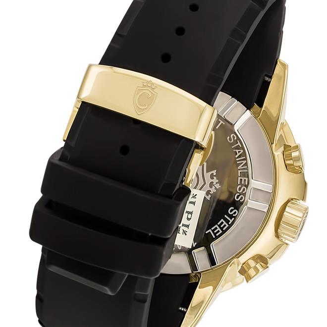 b1da5293c48 Relógio Masculino Constantim Marine Diver ZW30250U Gold Black Borracha