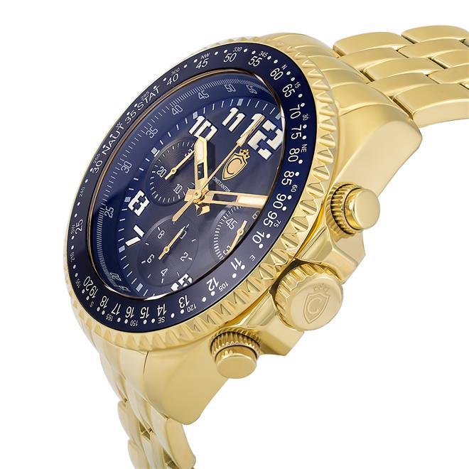 e1513853f14 Relógio Masculino Constantim CT-02 ZW30198A Navitimer Gold Blue. Ampliar