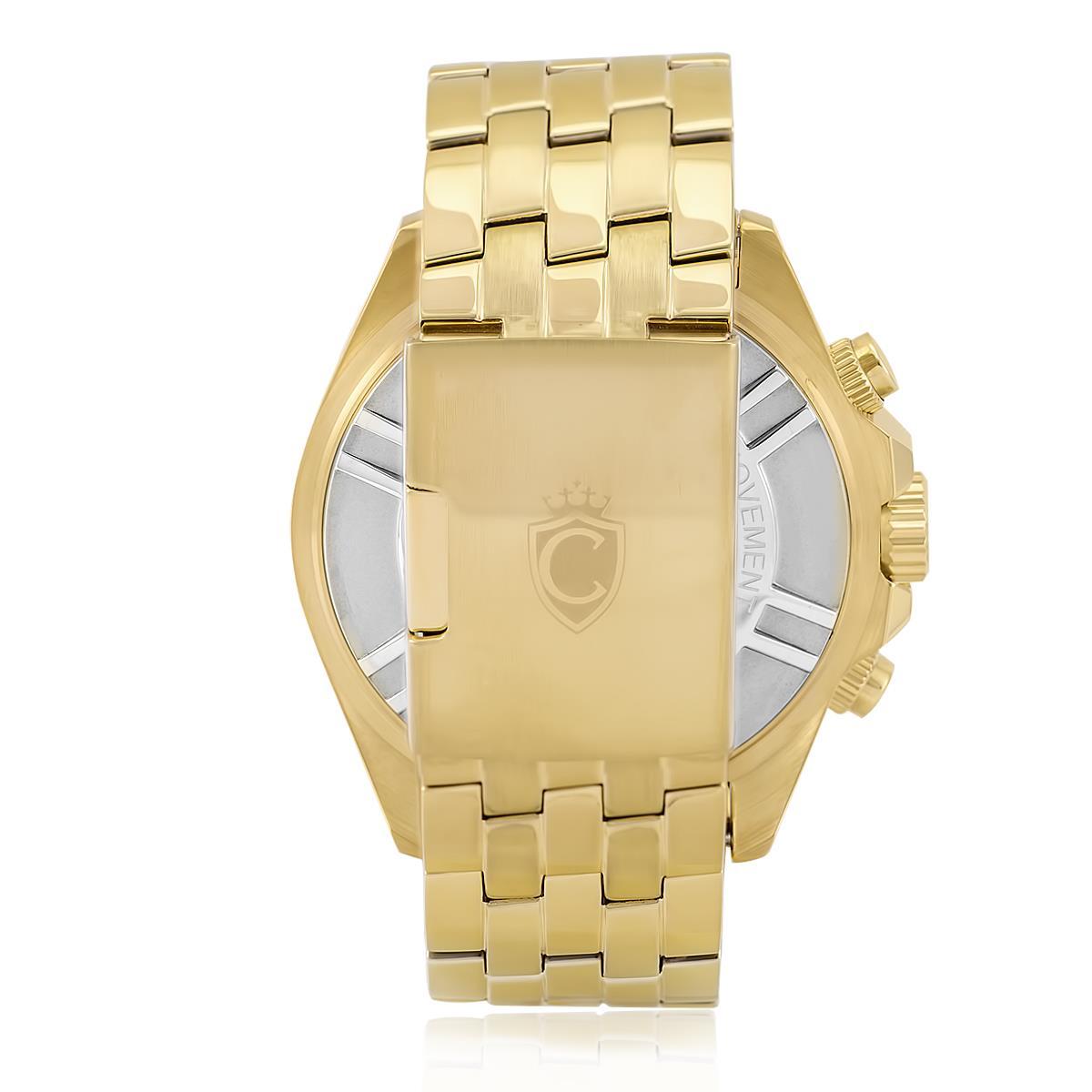 7b019d324e2 Relógio Masculino Constantim CT-02 ZW30198A Navitimer Gold Blue