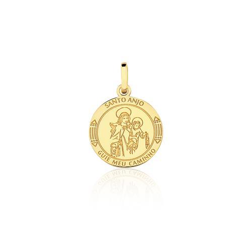 Pingente Santo Anjo, em Ouro Amarelo
