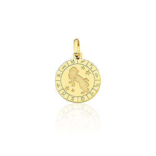 Pingente Signo Leão, em Ouro Amarelo