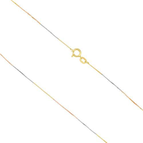 Corrente Feminina, Malha Veneziana com 45 cm em Ouro 3 Cores 86d38b2f01