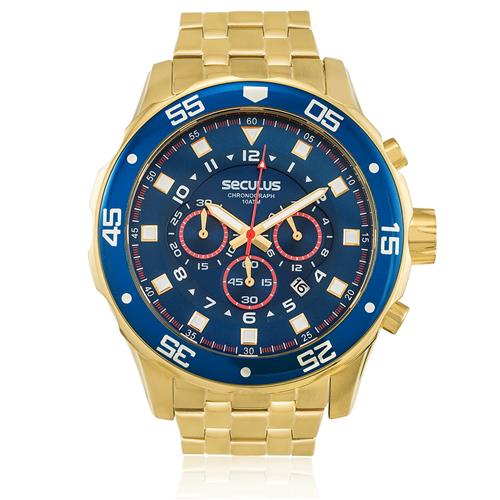 17cbf90113e Relógio Masculino Seculus Chronograph 20334GPSVDA3 Fundo Azul