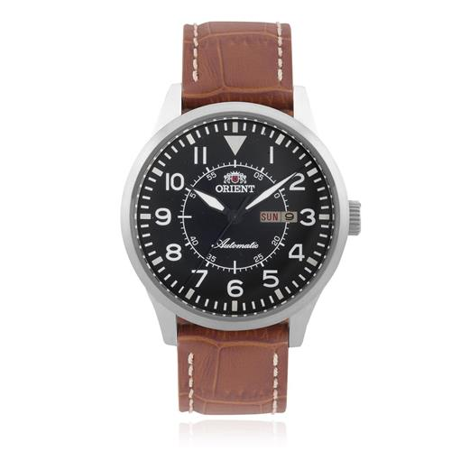 08d3af80dc3 Relógio Masculino Orient Automatic 469SS054 P2MX Couro Marrom
