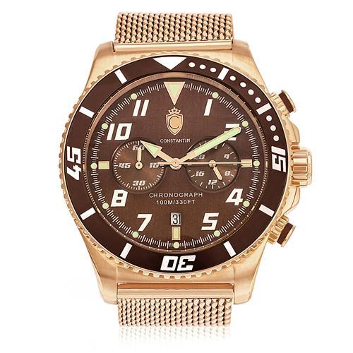 Relógio Masculino Constantim ZW30214R Rose Brown