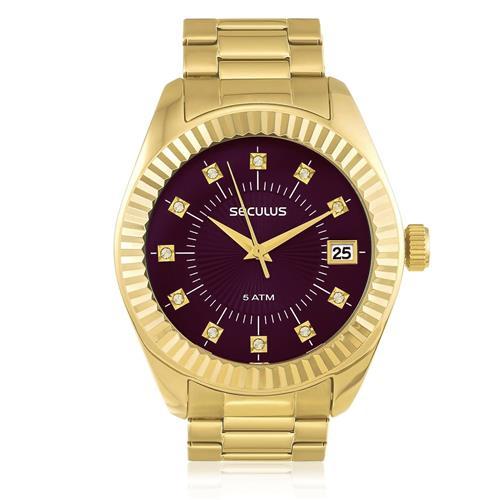 Relógio Seculus Analógico 13019LPSVDS6 Dourado