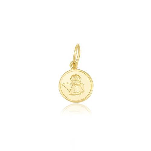 Pingente Infantil Anjo da Guarda, em Ouro Amarelo dd75ba8ccb