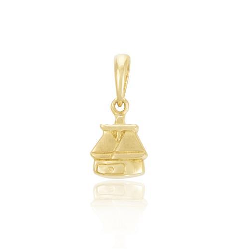 Pingente Libra em Ouro Amarelo