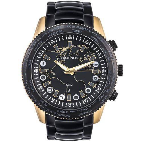 d8f63416e1d Relógio Masculino Technos Connect 753AA 4P Aço Misto