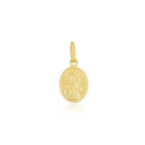 Pingente Religioso Santa Luzia, em Ouro Amarelo