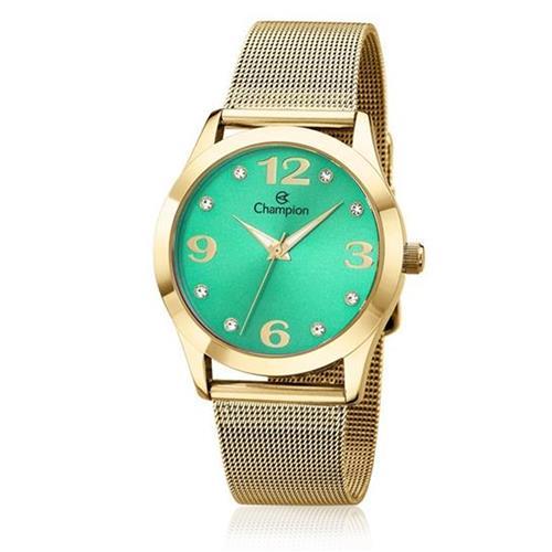 Relógio Feminino Champion Analógico CN29098G Fundo Verde