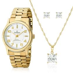 Relógio Feminino Champion Analógico CN29221W Dourado