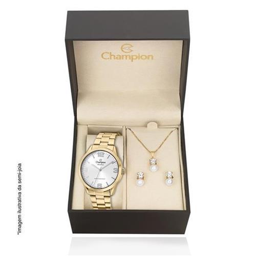 Relógio Feminino Champion Rainbow CN29892Z Kit Colar e Par de Brincos