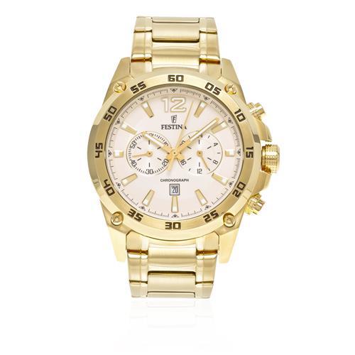 Relógio Masculino Festina Chronograph F16806-1 Dourado