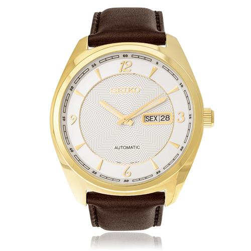 Relógio Masculino Seiko Automatic SNKN70B1 S2NX Couro