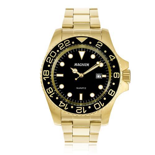 Relógio Masculino Magnum MA32934U Aço Dourado