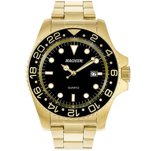 e7430fe6c54 Relógio Masculino Magnum MA32934U Aço Dourado