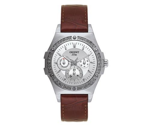 6a21957f1d9 Relógio Faminino Orient Eternal Analógico FBSCM003 Em aço com cristais  Swarovski