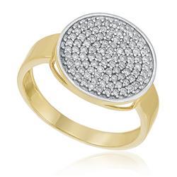 Anel Redondo com 45 Pts em Diamantes, em Ouro Amarelo