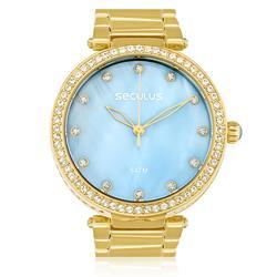 Relógio Feminino Seculus Analógico 20379LPSVDS4 Madrepérola