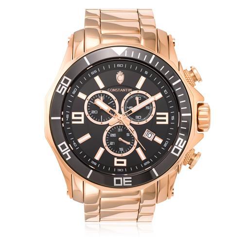 Relógio Constantim Chronograph Rose Black ZW30287P Aço Rose