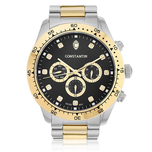 Relógio Constantim Daytona Mixed Black ZW30278P Diamantes