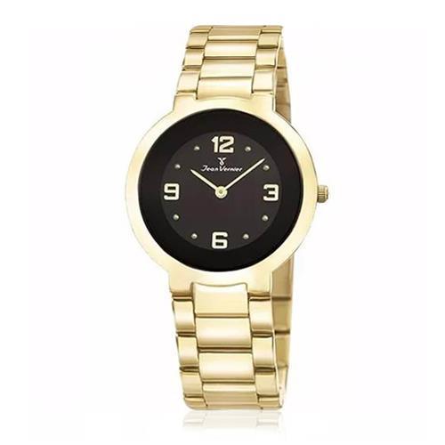 5b2c1c431e0 Relógio Jean Vernier Analógico JV1120 Fundo Preto
