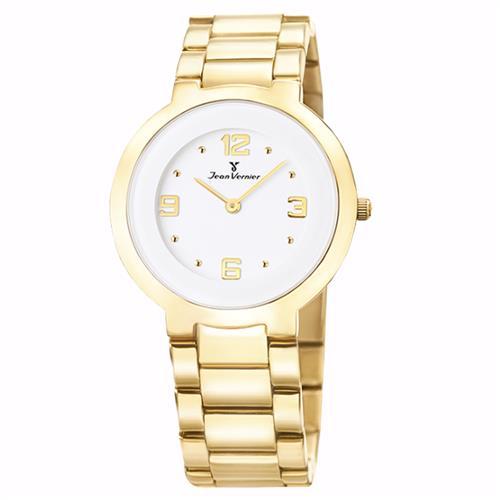 235f55dd5ad Relógio Jean Vernier Analógico JV1121 Dourado