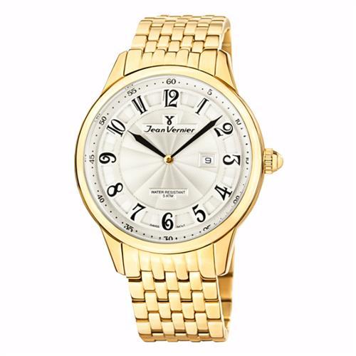 ea5f4b98c34 Relógio Jean Vernier Analógico JV1129 Dourado