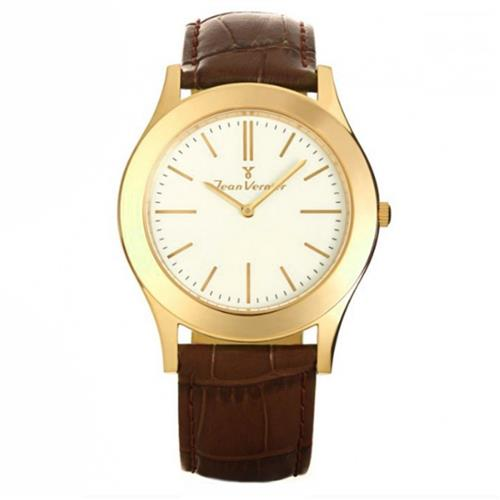 Relógio Jean Vernier Analógico JV4475 Couro Marrom