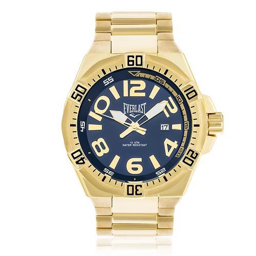 Relógio Masculino Everlast Analógico E633 Fundo Azul | Joias Vip