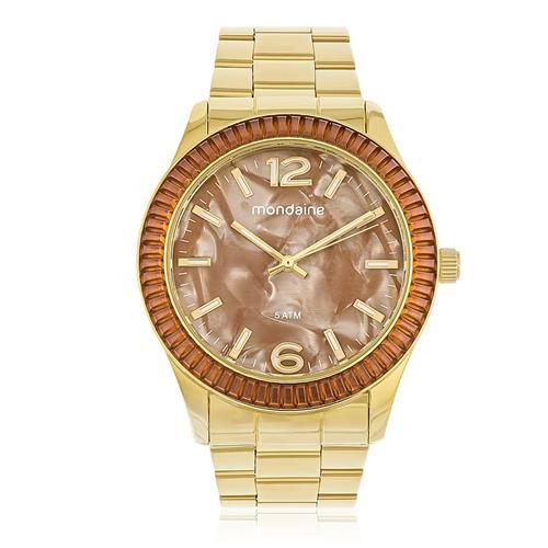 Relógio Feminino Mondaine Analógico 76596LPMVDE6 Fundo Laranja