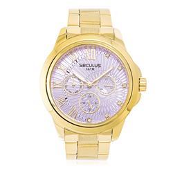 Relógio Feminino Seculus Analógico 28829LPSVDS7 Fundo Rosa