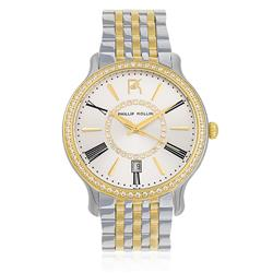 Relógio Feminino Phillip Kollin Calabria ZY28038B Mixed Gold Silver