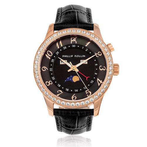 a80f81f4b8f Relógio Feminino Phillip Kollin Cartagena Rose ZY28118P Couro