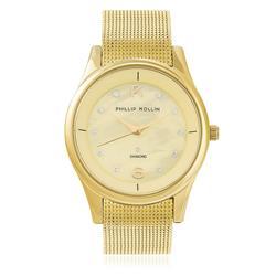 Relógio Feminino Phillip Kollin Ibiza Gold ZY28154G Dourado