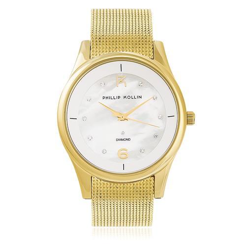 Relógio Feminino Phillip Kollin Ibiza Gold White ZY28154H Dourado
