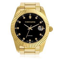 Relógio Masculino Constantim Diamond Gold Black Ref. ZW20109U  Dourado