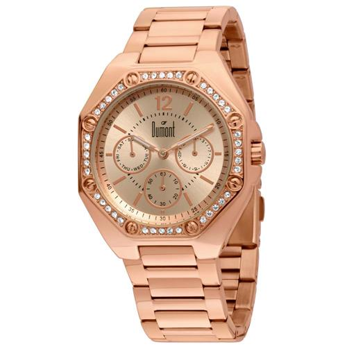 b3dedb53f53 Relógio Feminino Dumont Analógico SZ89154 4T Rose com cristais