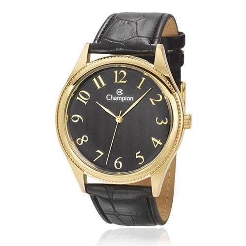 Relógio Masculino Champion Analógico CH22788P Couro Preto
