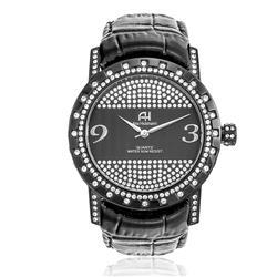 Relógio Feminino Ana Hickmann Analógico AH28400T Couro Preto