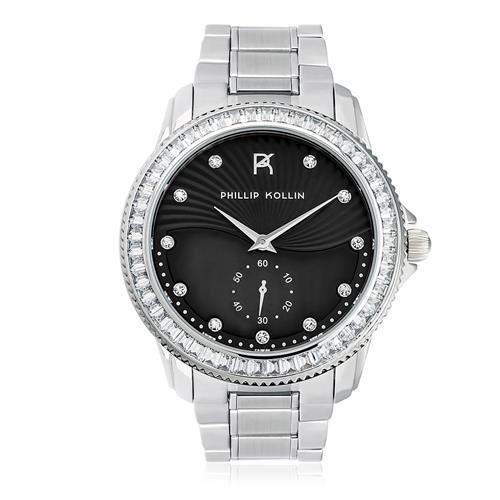 Relógio Feminino Phillip Kollin Malta Silver Blue Ref ZY28047F Prata