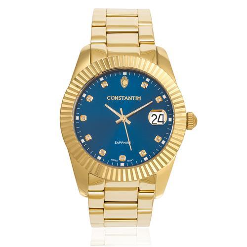 7950332e99f Relógio Masculino Constantim ZW20109A Diamond Gold Blue
